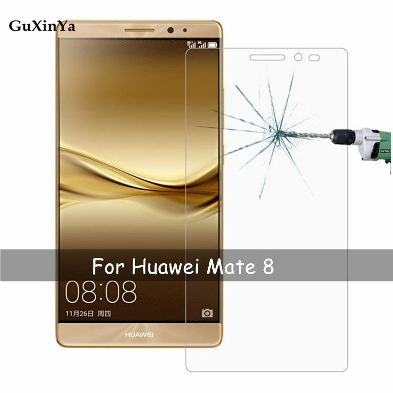 2pcs Tempered Glass Huawei Mate 8 Screen Protector Glass For Huawei Mate 8 Anti-scratch Film Mate 8 Phone Protective Front Film