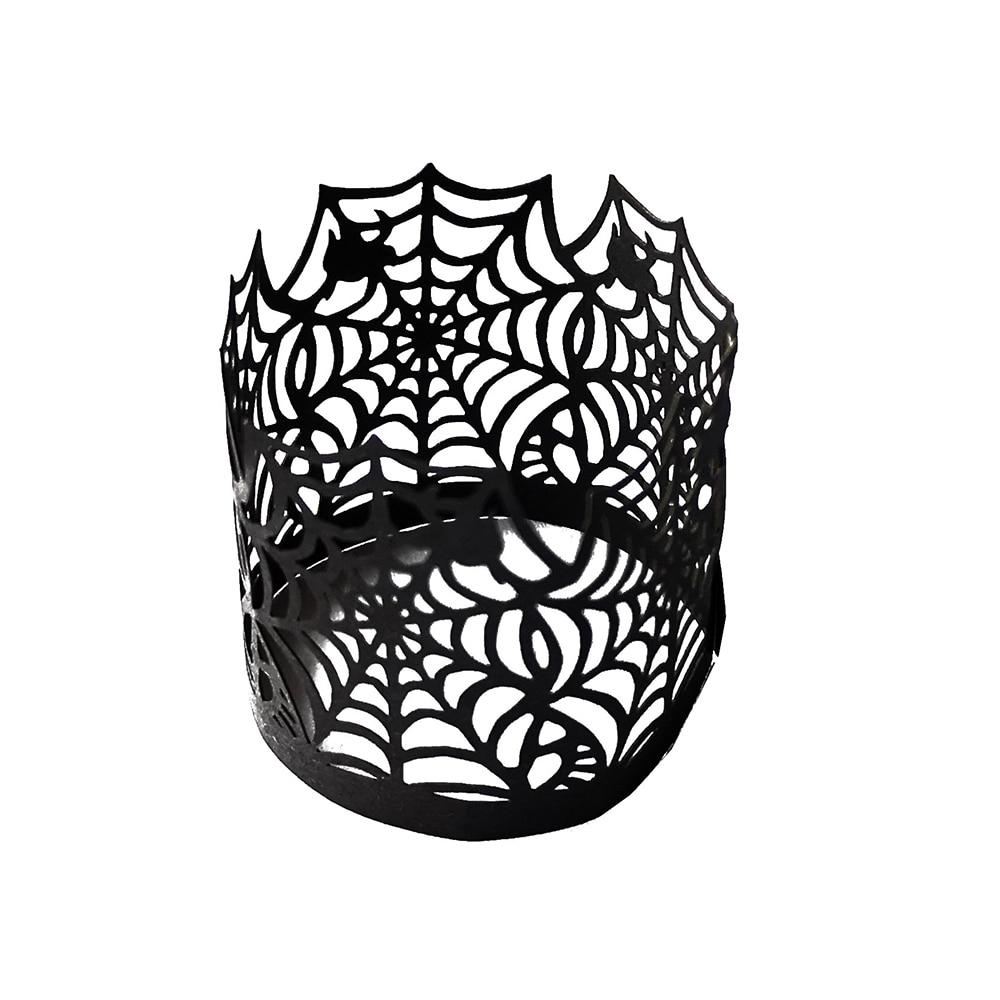 Vela de encaje Halloween ahueca hacia fuera el molde de la taza de papel de la torta