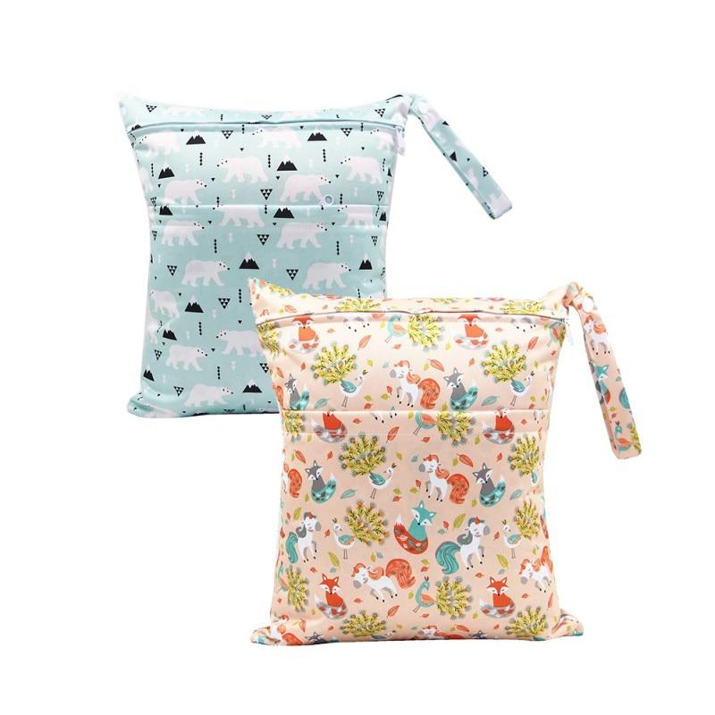 WEIXINBUY 36*30CM Single pocket wet bag baby cloth diaper bag waterproof reusable nappy bag small size mummy dry bag