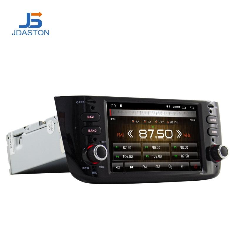 JDASTON Android 10.0 1 Din Car Radio For Fiat Abarth Punto EVO Linea 2012-2014 Car Multimedia Player GPS Navigation Stereo Wifi