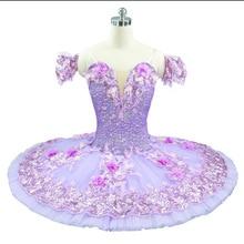 Violet Ballet Tutu femmes fleur fée princesse Ballet costumes ballerine crêpe plateau tutus rose professionnel robe de ballet