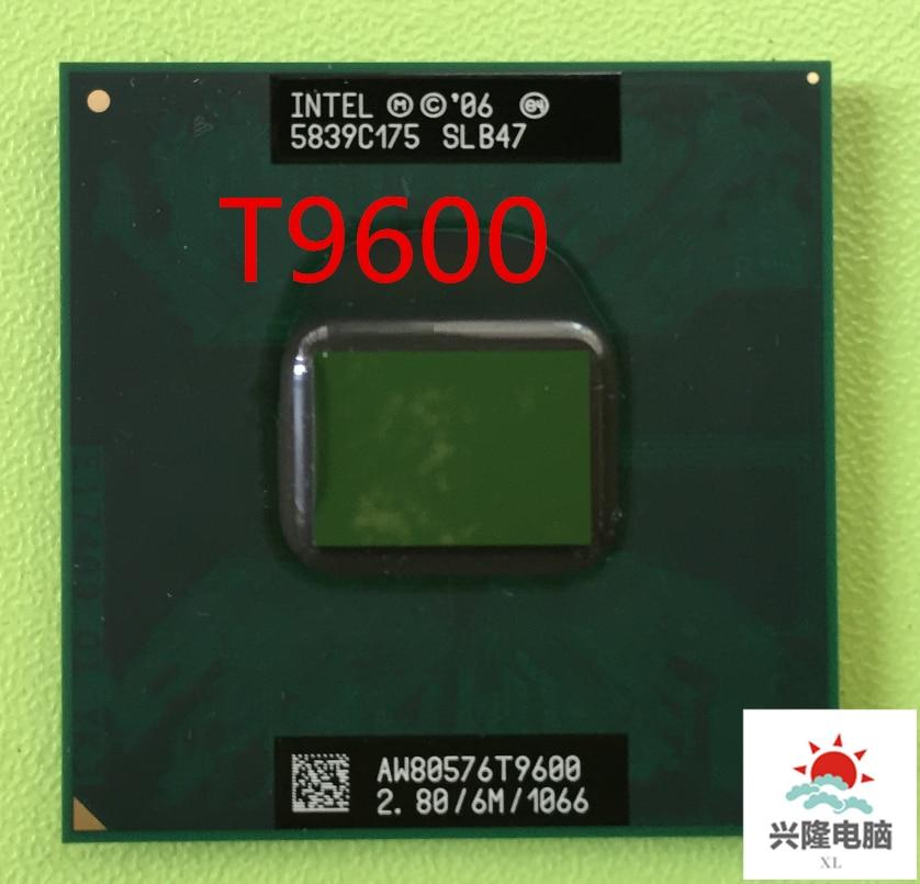 אינטל מעבד מחשב נייד Core 2 Duo T9600 מעבד 6M Cache/2.8GHz/1066/Dual-Core שקע 479 מחשב נייד מעבד עבור GM45 PM45 משלוח חינם