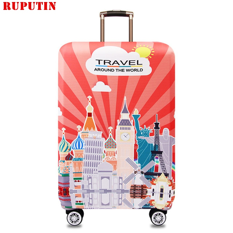 RUPUTIN New Cartoon Suitcase Dust Cover Travel Elasticity Trolley Case Sets Durable Protective Trunk Covers