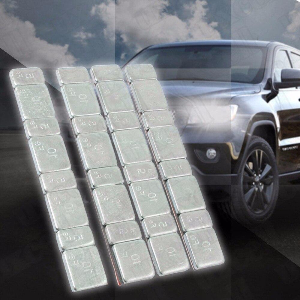 32 stücke Automobil Auto Reifen Ddiagnostic-Werkzeug Balance Bar Reifen Motorrad Werkzeuge Kit Gramm Stahl Jeder Stick-Auf rad Balancer Gewicht