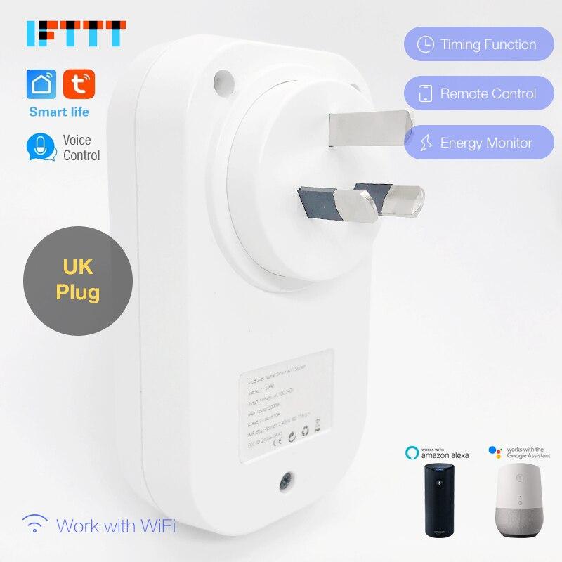 De calidad superior Espana WIFI inteligente es NZ Plug Monitor de alimentación, 16A zócalo inteligente de Control de voz trabajo con Alexa de Google IFTTT