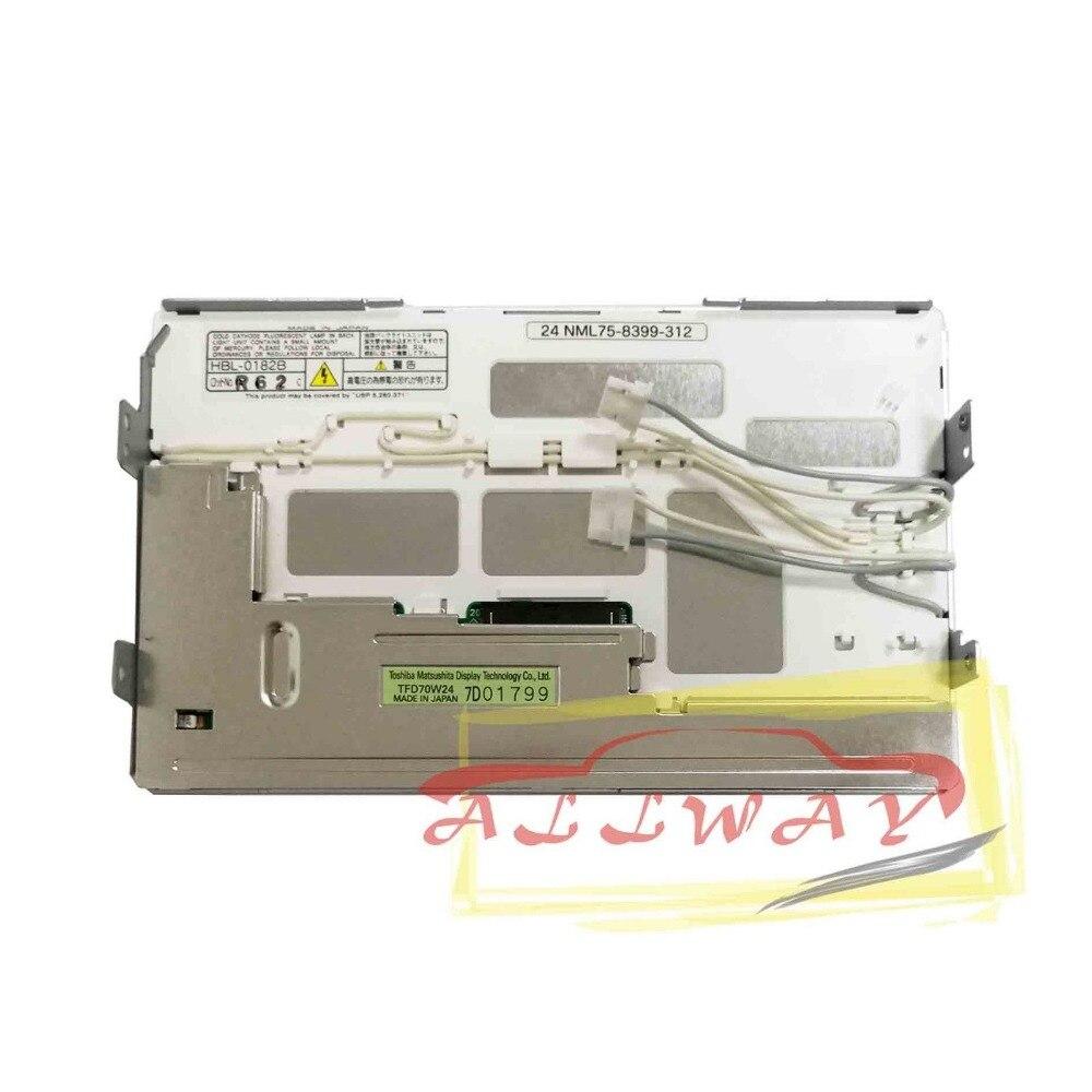 Pantalla LCD Toshiba de 7 TFD70W24 para Toyota headunit 86111-60100 sin panel