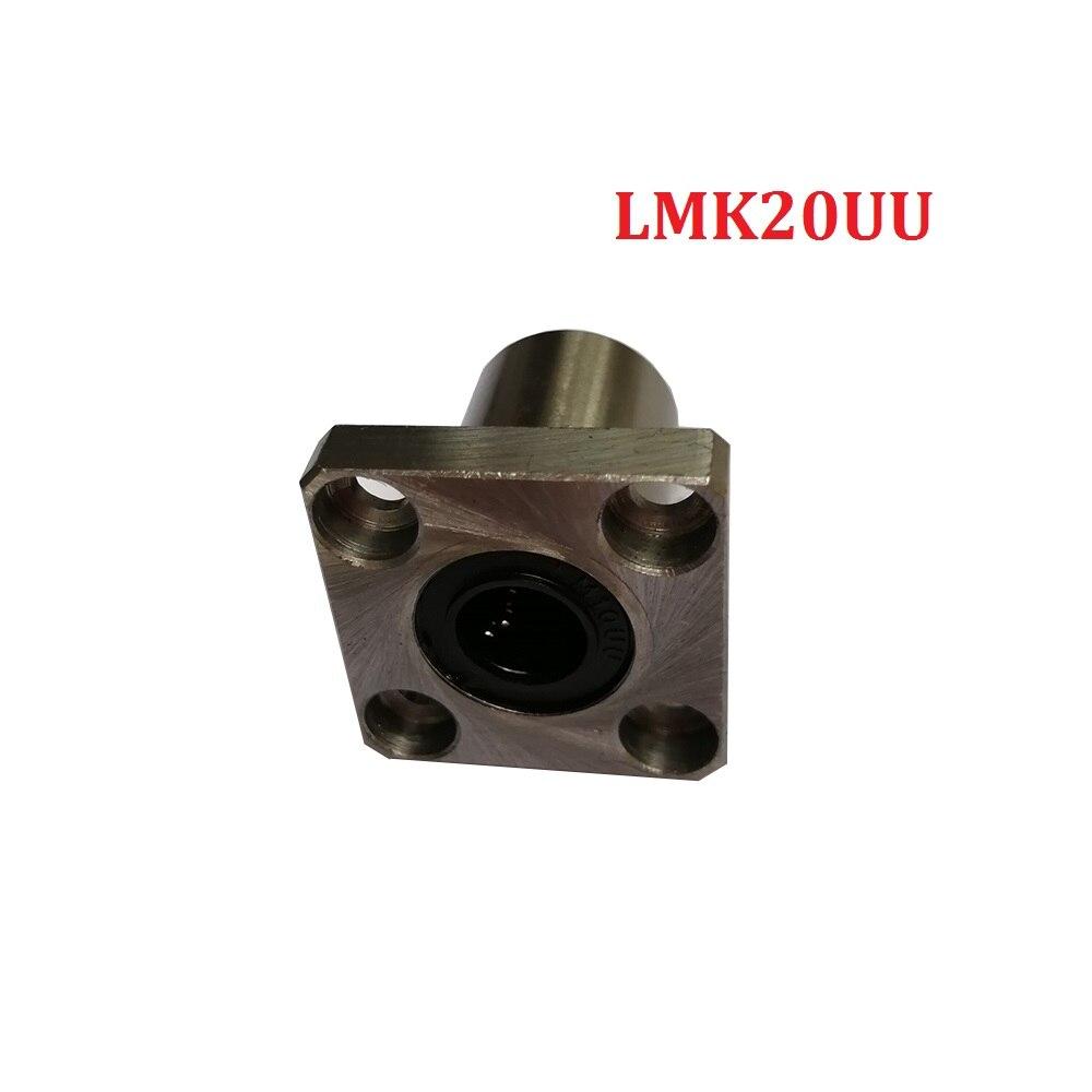Упаковка из 4 шт 20 мм LMK20UU Квадратный фланец Тип Линейный подшипник для 3d части принтера