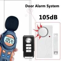 Systeme dalarme de securite domestique  capteur de porte  telecommande  anti-cambriolage  couleur blanche  ABS