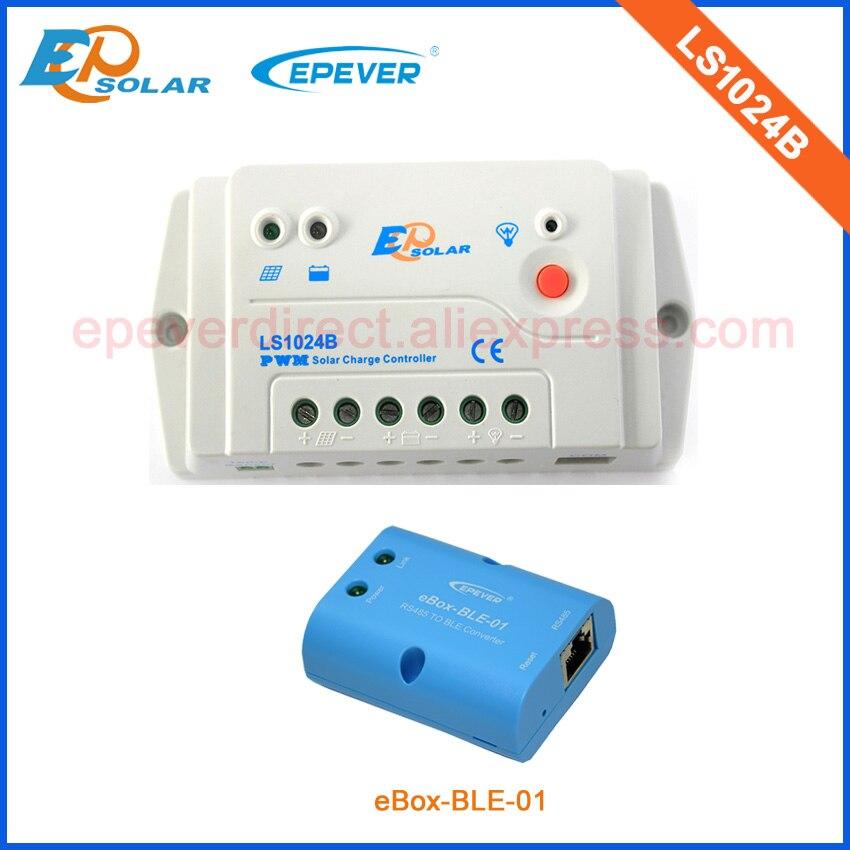 Controlador Solar con eBOX-BLE-01 adaptador de función bluetooth para la aplicación de teléfono Android LS1024B 10A 10 amperios 12 V/24 V cargador de batería