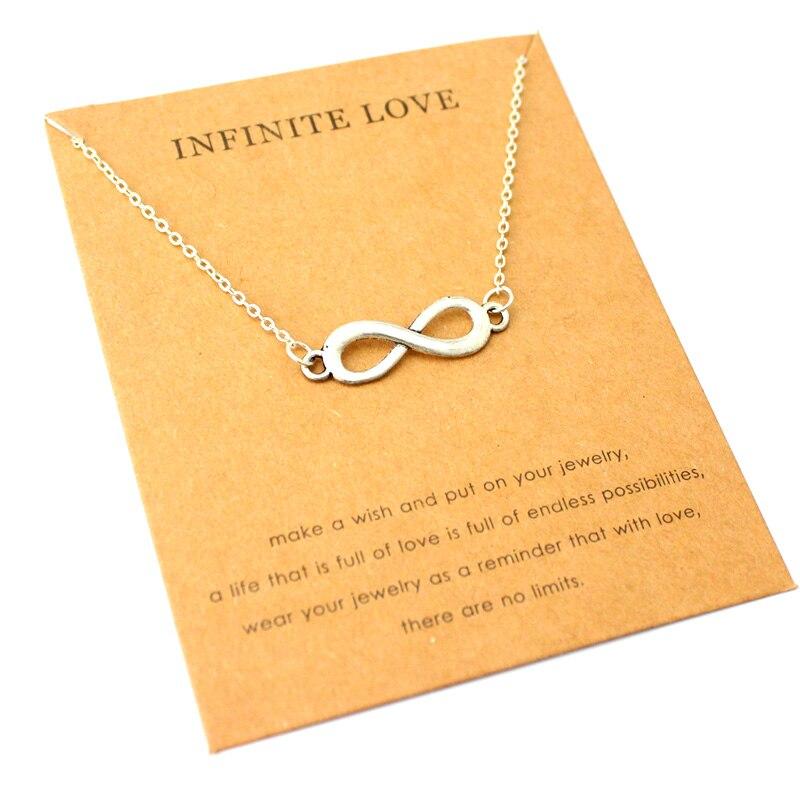 Infinito amor equilibrio colgantes Cadena de plata collares mujeres hombres chica Unisex moda joyería de moda regalo de Navidad Drop Shipping
