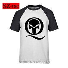 Camiseta de calavera Q Anon Freedom Movement Q Anon, camiseta de calavera Flame Q Follow The White Rabbit, Camiseta de algodón de verano de manga corta