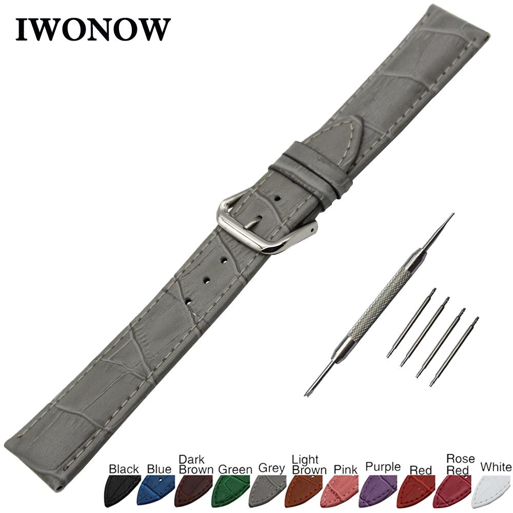 Croco pulseira de relógio de couro genuíno 18mm 19mm 20mm 21mm 22mm para timex weekender expedição correia de pulso