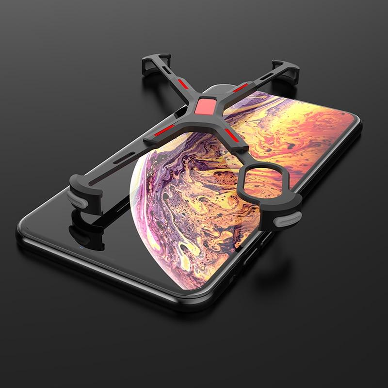 Elemento marvel para iphone xs max caso ultra fino anti-gota almofada de ar de alumínio metal pára-choques caso para iphone x/xs/xs max/xr