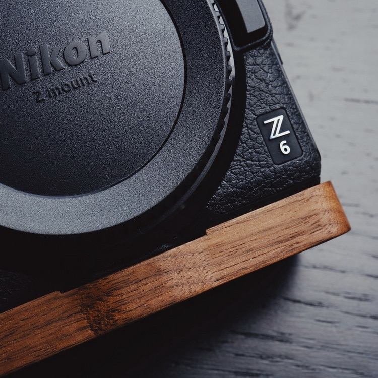 High Quality Handmade Wooden Quick Release L Plate / L Bracket Perfect fit for Nikon Z7 Z6 Hand Grip Holder enlarge