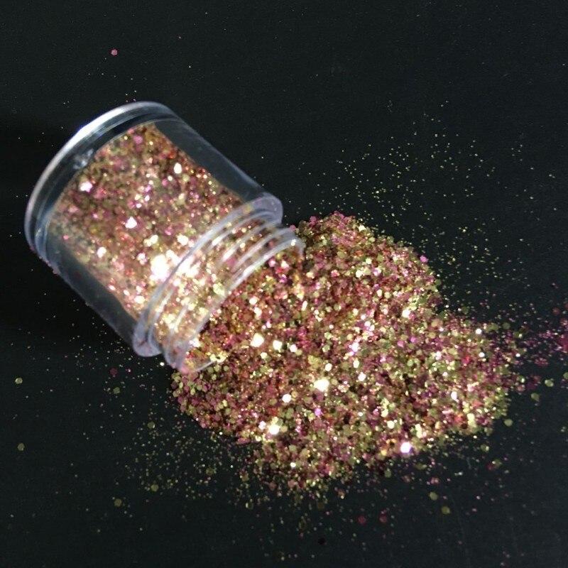1 Box Mix 10ML Chunky Glitter Sequins Face Body Nails Hair Gems Beauty Makeup Glitter Powder Sequins