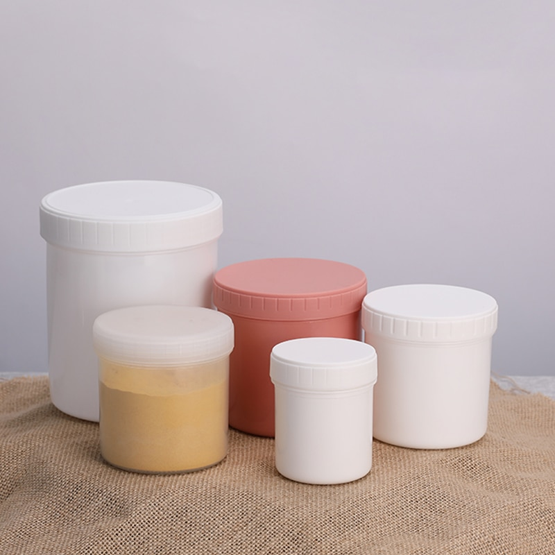 Frascos de plástico vacíos de alta calidad para alimentos, crema cosmética, contenedor libre de BPA, 150 ML, 200 ML, 300 ML, 500 ML, 1000ML