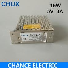 5 v LED Schalt Netzteil 110 v 220 v die maximale strom 3A modell S-15-5 freies verschiffen 15 watt AC zu DC Led Batterie Streifen