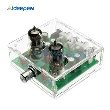 Caixa de acrílico 6j1 válvula preamp pre-amp tubo pré-amplificador placa fone de ouvido amplificador buffer transparente
