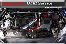 Karbon Fiber HAVA GİRİŞİ Kutusu Fit 08-13 Için Mitsubishi Lancer Evolution X EVO X EVO 10 H KAISAI Tarzı hava Kutusu w/Metal Montaj Kiti