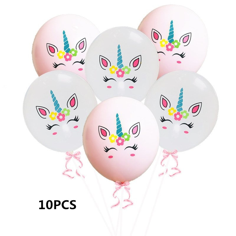 FEMAILY 1 Unicorn Balloons Party Decoration Supplies Pink Latex Baloon Cartoon show Horse Float Globe Birthday Party  - buy with discount