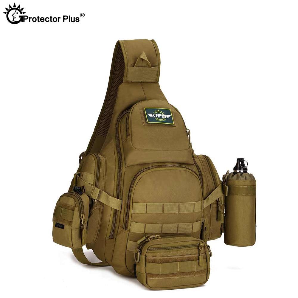 "Protector Plus 20-35L Tactical Sling shoulder Bag,14"" Laptop Waterproof Molle Military Backpack,Camping Hiking Hunting Sport Bag"
