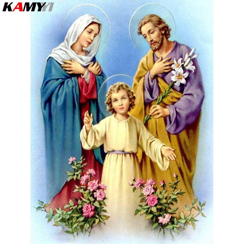 Diy 5d Diamante Pintura Jesus Artes E Ofícios Do Natal Decor Completo Quadrado Diamante do Ponto da Cruz do Bordado XY1 Ícone Religioso