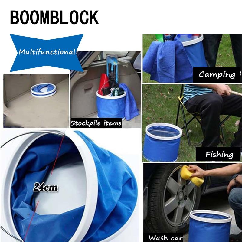 BOOMBLOCK 1set Car Cleaning Wash Water Bucket Trunk Styling For Opel Astra H G J Volvo S60 V70 XC90 Citroen C5 C4 C3 Subaru