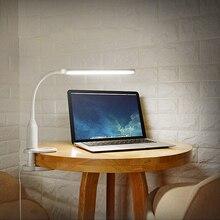 Livraison directe 5 W oeil protéger Clip lampe de Table en continu gradation tactile capteur pliable USB alimenté lecture lampe de bureau