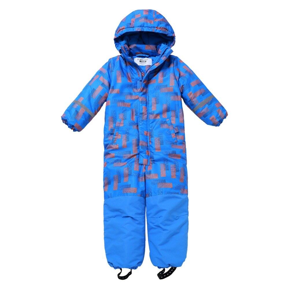 Moomin 2019 nueva moda para niños invierno en general Cálido impermeable invierno mono prendas de vestir-20 grados nieve general niños azul