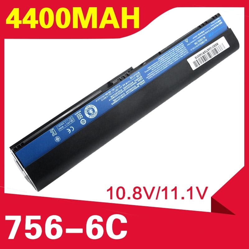 Аккумулятор 4400 мАч для Acer Aspire One 756 725 V5-171 TravelMate B113 B113M B113-M C7 C710 AL12X32 AL12A31 AL12B31 AL12B32