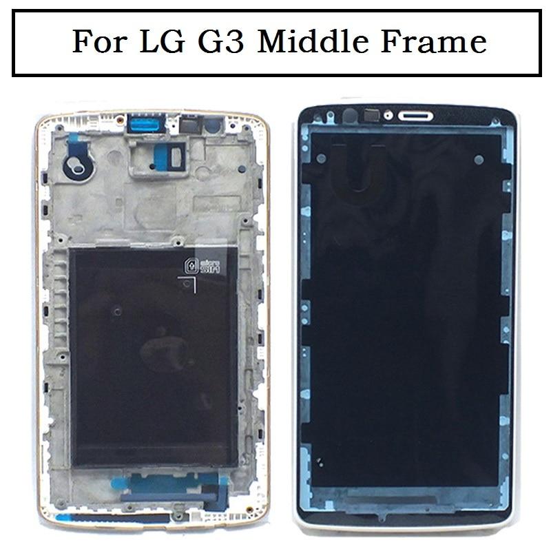 Color negro blanco dorado para LG G3 D855 D850 Carcasa para marco lateral funda de placa intermedia pieza de reparación, ¡envío gratis!