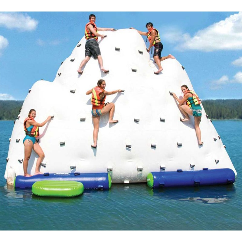 Water Park Inflatable Water Island,Inflatable Iceberg For Funny Games Inflatable Ice Tower