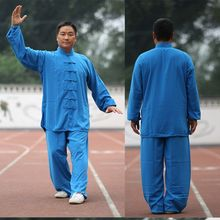 Tai chi Uniform Taiji Wushu Kung fu Kleidung Kinder Erwachsene kampfkunst Wing Chun Anzug Baumwolle Uniform Langarm