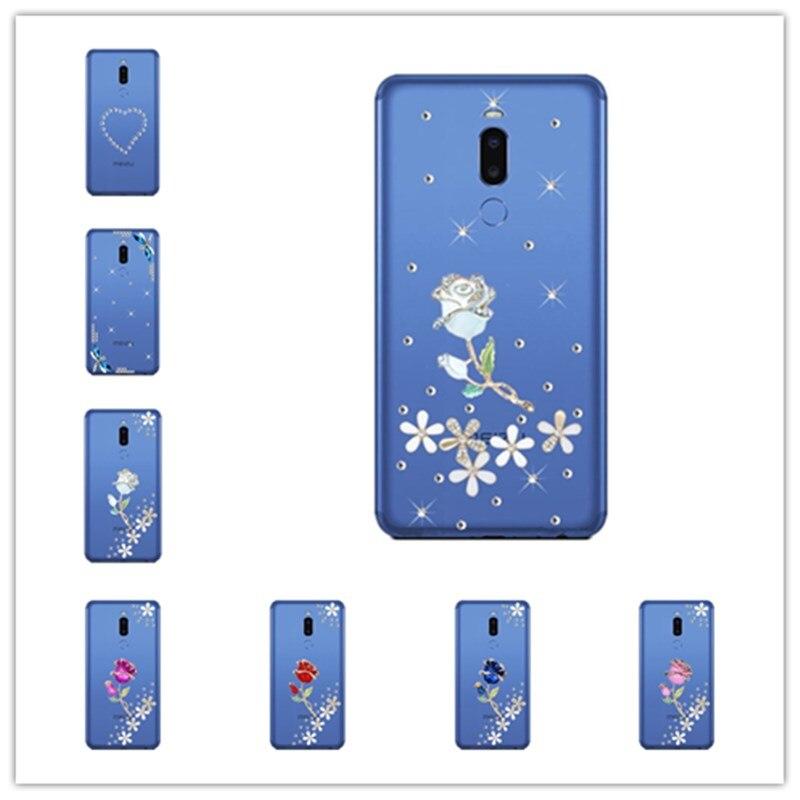 Para Meizu note8 Nota 8 9 C9 cristal ostentoso diamantes de imitación diamante cubierta de la caja para Meizu pro 5 5 5 6 6 7 15 16 más M6T M6S M5S M6 M5 nota