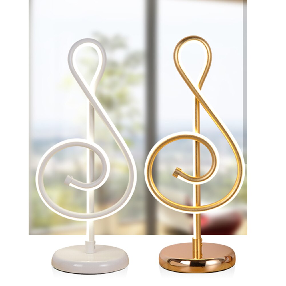 25 W moderne doré Note de musique chambre LED lampe de bureau artistique maison salon chevet décoration veilleuse
