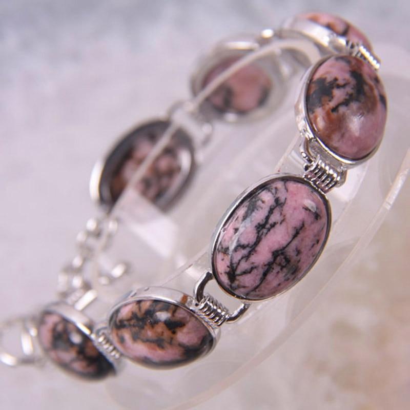 Rhodonit Perlen Armband Armreif 8 Zoll Schmuck Für Frau Geschenk G048