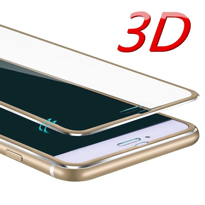 De aleación de aluminio de la funda de vidrio templado para teléfono para iphone 6 caso 6S 6 7 Plus 5 5S Pantalla Completa proteger cobertura funda para el iphone 7 caso