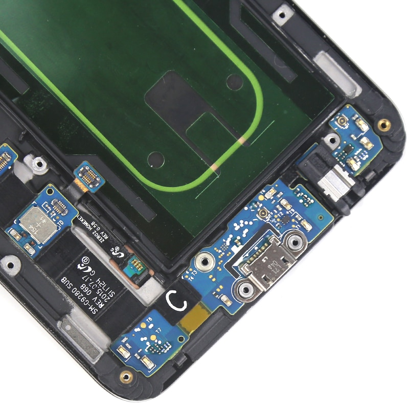 Super AMOLED For Samsung S6 Edge Plus LCD Dispaly With Frame Touch Screen Assembly For Samsung G928F LCD Digitizer enlarge