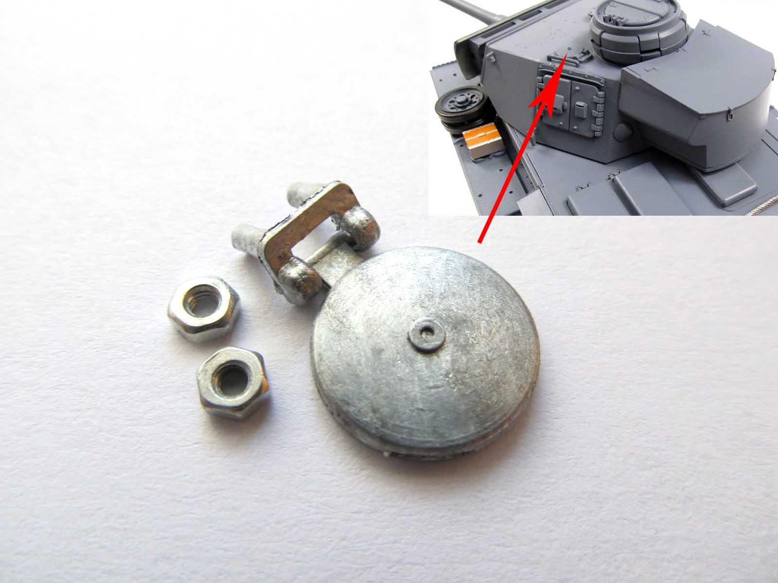 Mato 1/16 henglong panzer iii rc tanque torreta metal porta singnal hatch mt118 th00809