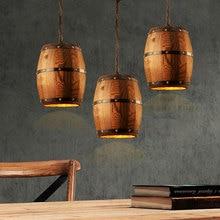 Kreative holz cask anhänger lampe vintage esszimmer küche pub restaurant bar club cafe lampen kronleuchter weinkeller licht