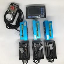 Nema34 moteur pas à boucle fermée Hybird   3 pièces, 4,5nm, Kits de Servo faciles + 3 axes, contrôleur hors ligne G PLC + MPG pour