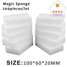 200 pcs/lot blanc magique mélamine éponge gomme cuisine nettoyage éponge mélamine nettoyant Nano magique éponge gros fournisseur