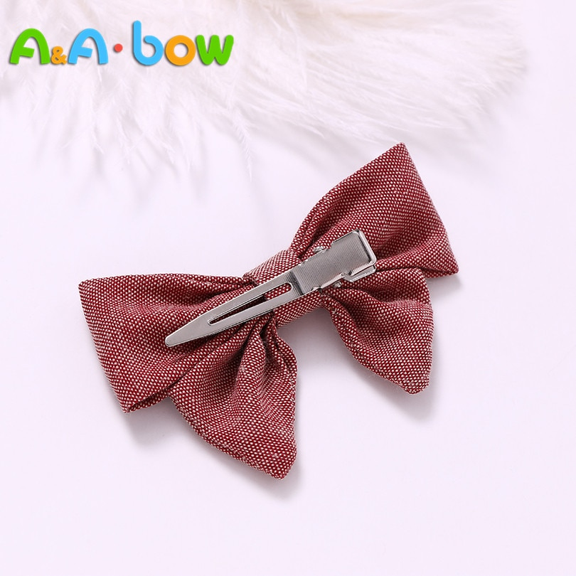 1pcs/colors 9color Handmade Girl Bow Hairpins Hair clips bow Headband For Babys Hair Accessories Bowknot Babys Hairpins