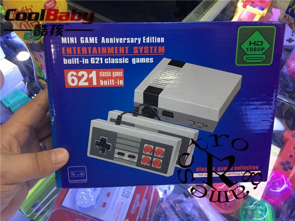 5-50 unids/lote CoolBaby HD Mini TV consola de juegos familiar HDMI 8 Bit Retro consola de videojuegos incorporado en 621 reproductor de juegos portátil