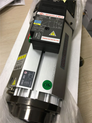 Motor de husillo ATC refrigerado por aire 9KW ISO30 220V 6.4Nm 22A Cabeza corta + Kit inversor 11KW 15HP VFD