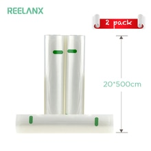 REELANX أكياس مكنسة ل فراغ باكر 2 لفات 20*500 سنتيمتر حقيبة التخزين للأغذية فراغ السدادة الطازجة الغذاء التعبئة والتغليف