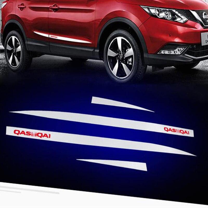 Lateral de acero inoxidable la línea de la puerta guarnición cuerpo moldura Cover estilo Protector para Nissan Qashqai 2017, 2018, 2019