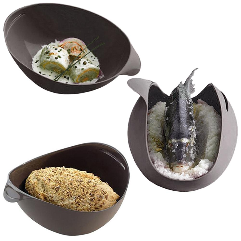 Cesta escorredora para microondas, cesta segura não-tóxica para comida, peixe, microondas, louça de silicone para cozinhar pão, bandeja a vapor, acessórios de cozinha