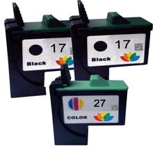 3 шт. совместимый 10N0017 10N0027 для Lexmark 17 27 чернильный картридж LM17 LM27 принтер Z13/Z23/Z24/Z25/Z33/Z34/Z35