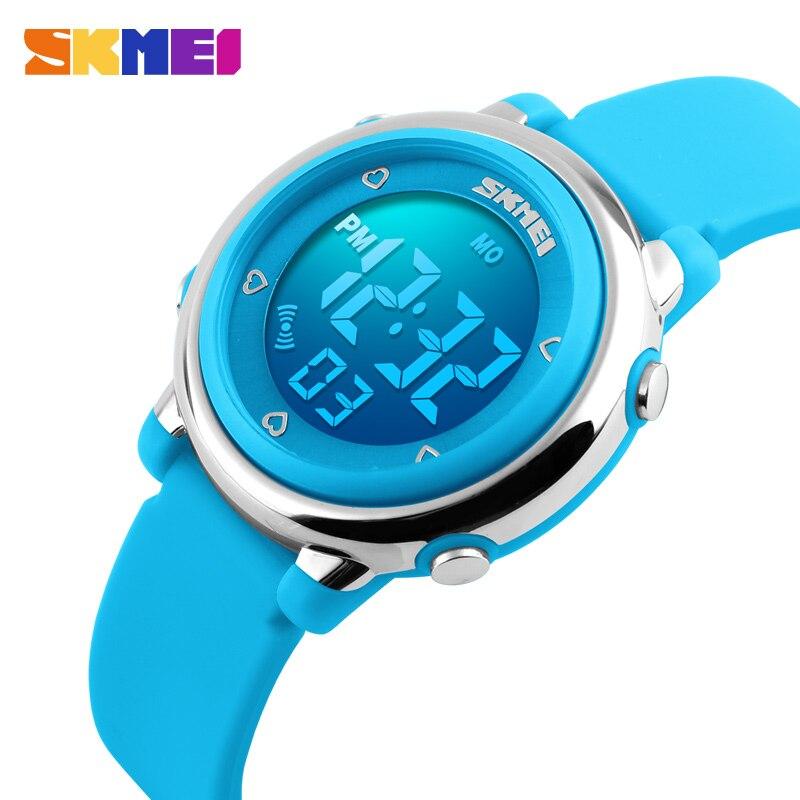 Moda skmei deportes niños relojes impermeable reloj alarma niños luz calendario Digital relojes reloj Infantil 1100
